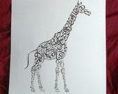Arabic Calligraphy- Giraffe of Damascus NQ038