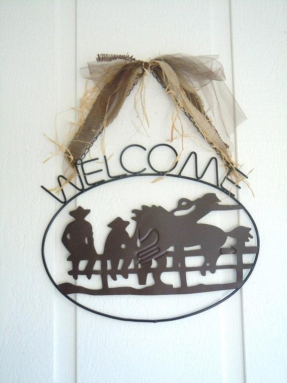 Western Welcome Sign, Cowgirl, Ranch, Farmhouse, Cowboy, Rustic, Home Decor, Wedding