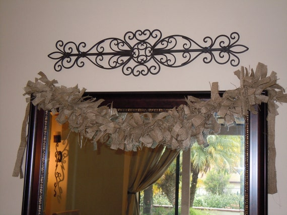 Burlap Garland in Rustic Brown Burlap, READY to SHIP Shabby, Western, Country, Costal, Cottage, Farmhouse