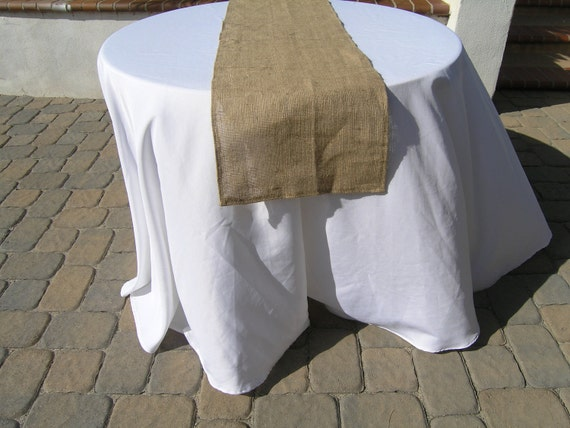 Burlap Table Runner, 73 inches long, Ready to SHIP, On SALE