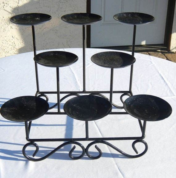 Candle Stand, Large Black Metal Candle Holder, Display, Home Decor, Wedding Decor, Party decor
