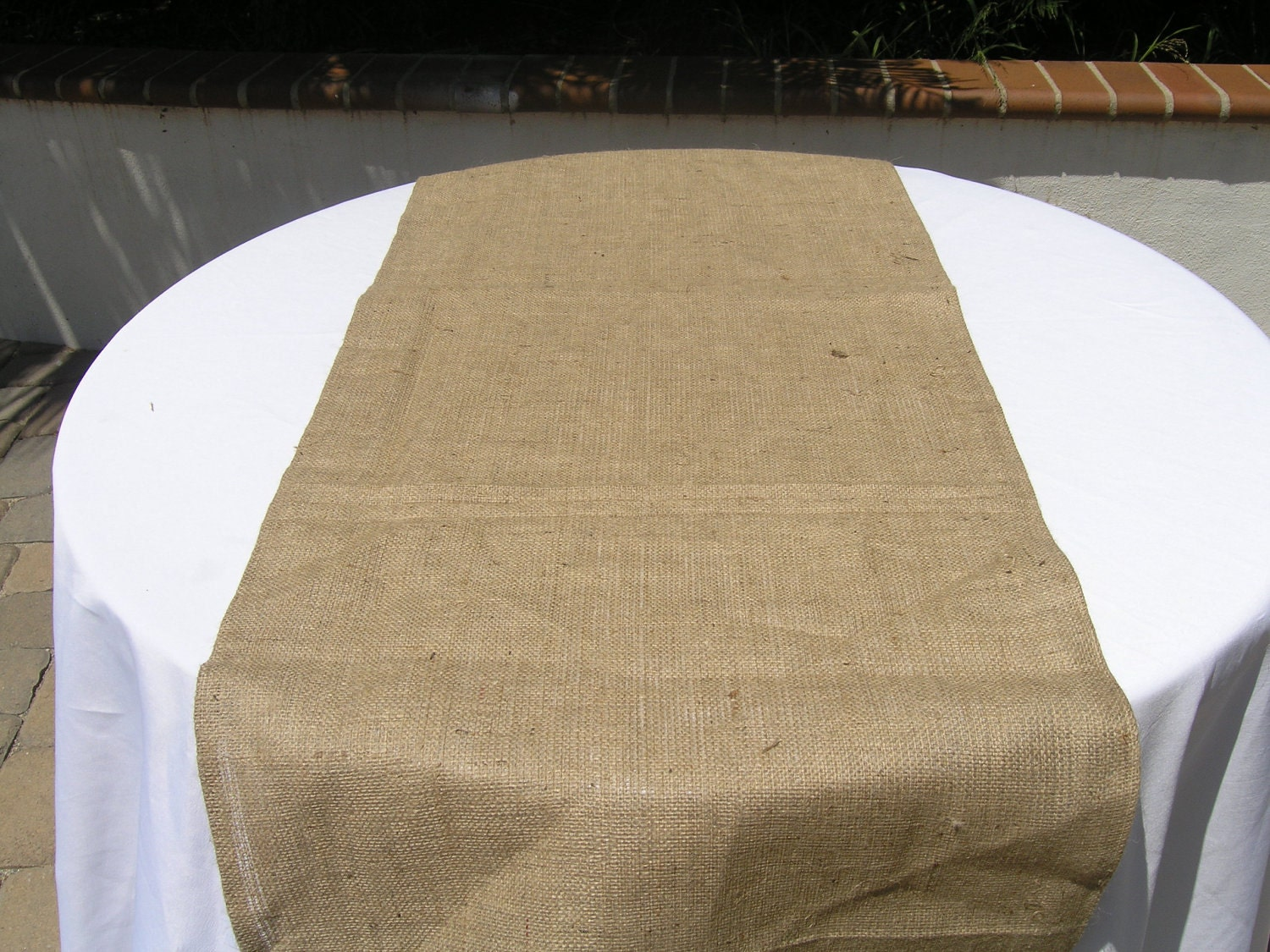 Burlap Table Runner Extra Wide Runner Wedding by LolaRoseDesigns