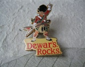 Dewar's Rocks Whisky Lapel Pin