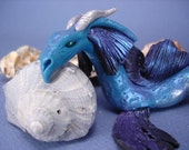 Sea Serpent / Water Dragon art doll fantasy sculpture
