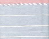 White Fabric Coral Stripe Blue Fabric Striped Fabric Waverly Fabric Cotton Fabric Chimayo Southwest Pastels Fabric Craft Supplies YacketUSA