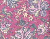 "RESERVED - Pink Fabric Rose Fabric Dusty Pink Floral Fabric Fat Quarters - also BTY Cotton Fabric 44"", Vintage Craft Supplies YacketUSA"