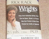 Rainbow Rick Rack Printed Rick-Rack Size Medium Ric Rac Polyester Rick Rack Craft Supplies YacketUSA