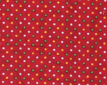 Red Fabric Polka Dots Fabric Mini Yellow Dots Fabric Green Dots 3 Yards Christmas Cotton Fabric Quilting Fabric Craft Supplies YacketUSA
