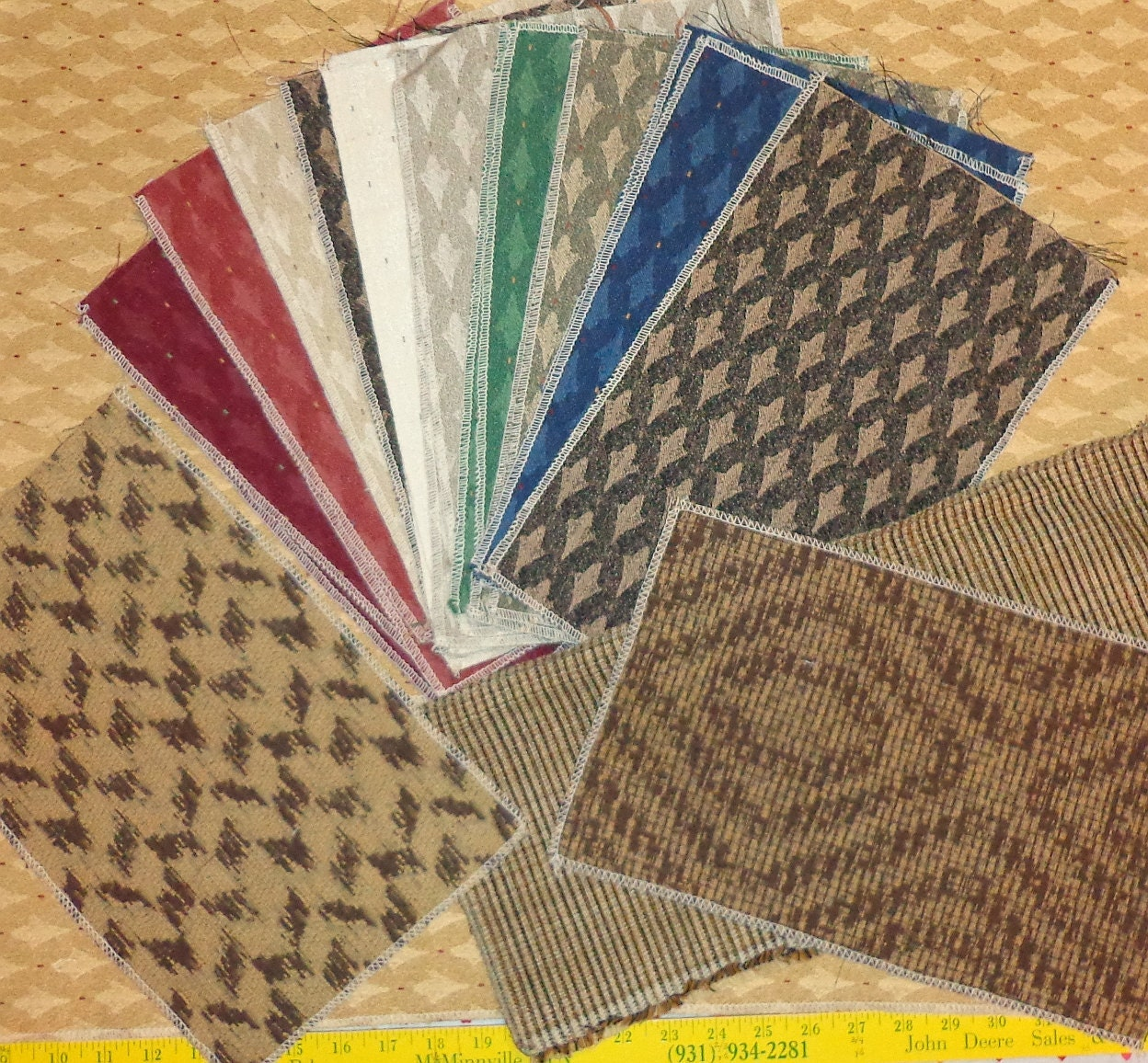 Gold Fabric Upholstery Fabric Samples Fabric Swatches 8 X 13