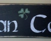 Vintage Styled Irish Man Cave w/ Shamrock Accent - Black
