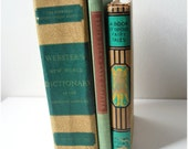 Green and Brown Vintage Book Collection