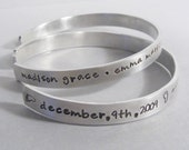 2 Personalized mothers bracelets hand stamped mommy jewelry custom bracelets childrens names