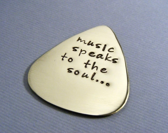 Personalized Guitar Pick - Custom Guitar Pick - Music Lovers Gift - Personalized Mens gift - Hand Stamped Pick - Handstamped Pick