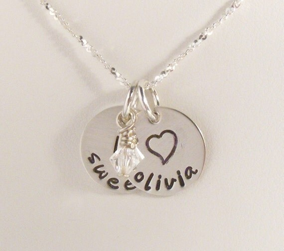 Personalized Sweet 16 necklace - Sweet 16 Jewelry - Sweet Sixteen Gift - Personalized Jewelry - Hand stamped Jewelry - Teenage girl gift