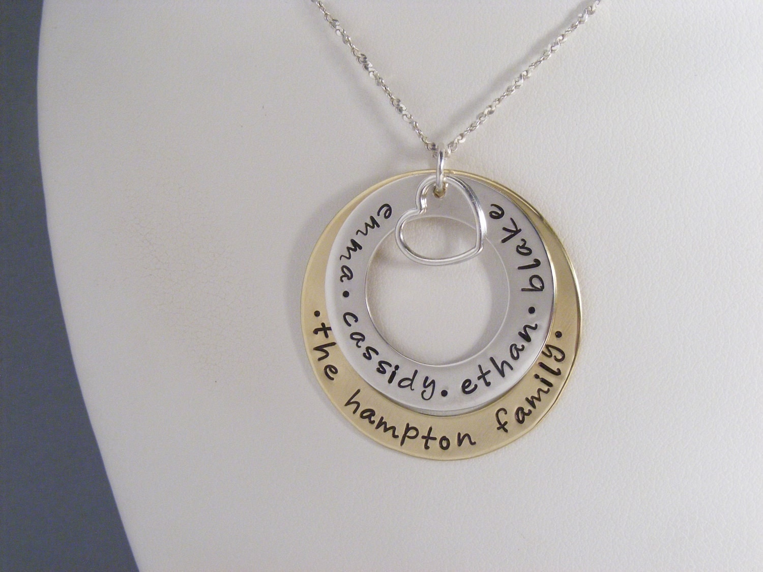 personalized family necklace family name jewelry