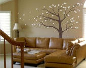 6ft Cherry Blossom Tree vinyl wall decal, removable matte finish graphics art