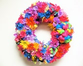"""Spring Wreath Spring Mix Silk Floral Wreath(EXTRA LARGE Approx. 32"""" Round 9"""" Deep-from end to center)"""