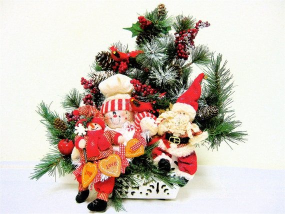 Items similar to christmas xxl floral arrangement red and