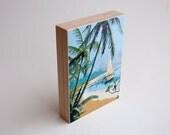 SALE - Paint by Number Art Block - 'Tropical Palm'