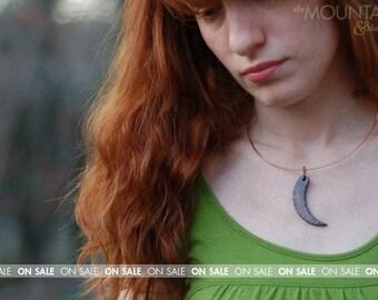ON SALE // Claw Raku - Ceramic, Raku Necklace