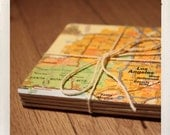 reclaimed map coasters / custom square