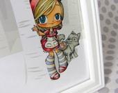 Little Red 5x7 Art Print