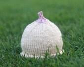 Knit Baby Hat - breastfeeding/Nursing Boobie Beanie