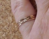 Set of 3 Teeny Tiny Delicate Thin Stacking Rings In 14K Gold Filled SRAJD