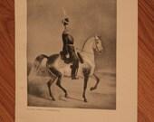 King Nicholas I - Russian Empire Monarch - 1940s Russian Art Photo Page - Finland Poland Ruler - Decoupage