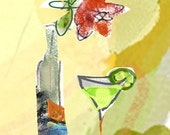 rose and martini print free shipping