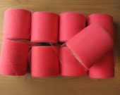 """9 Coral Pink Rolls of Tulle Fabric, each 3"""" by 25 yards"""