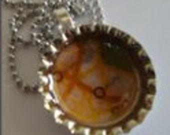 Bottle Cap Pendant Necklace (216)