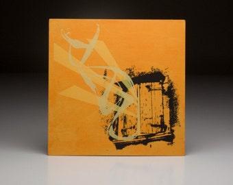 Screen printed music art- Snow Patrol