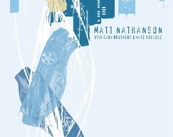 Matt Nathanson gig poster- Screen printed, limited edition