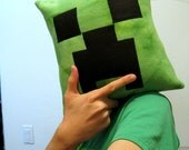 Minecraft Inspired Creeper Pillow