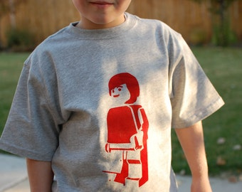 Minifigure T-Shirts for Boys -- CUSTOM Color/Size