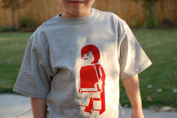 Minifigure T-Shirts for Boys -- CUSTOM Color/Size
