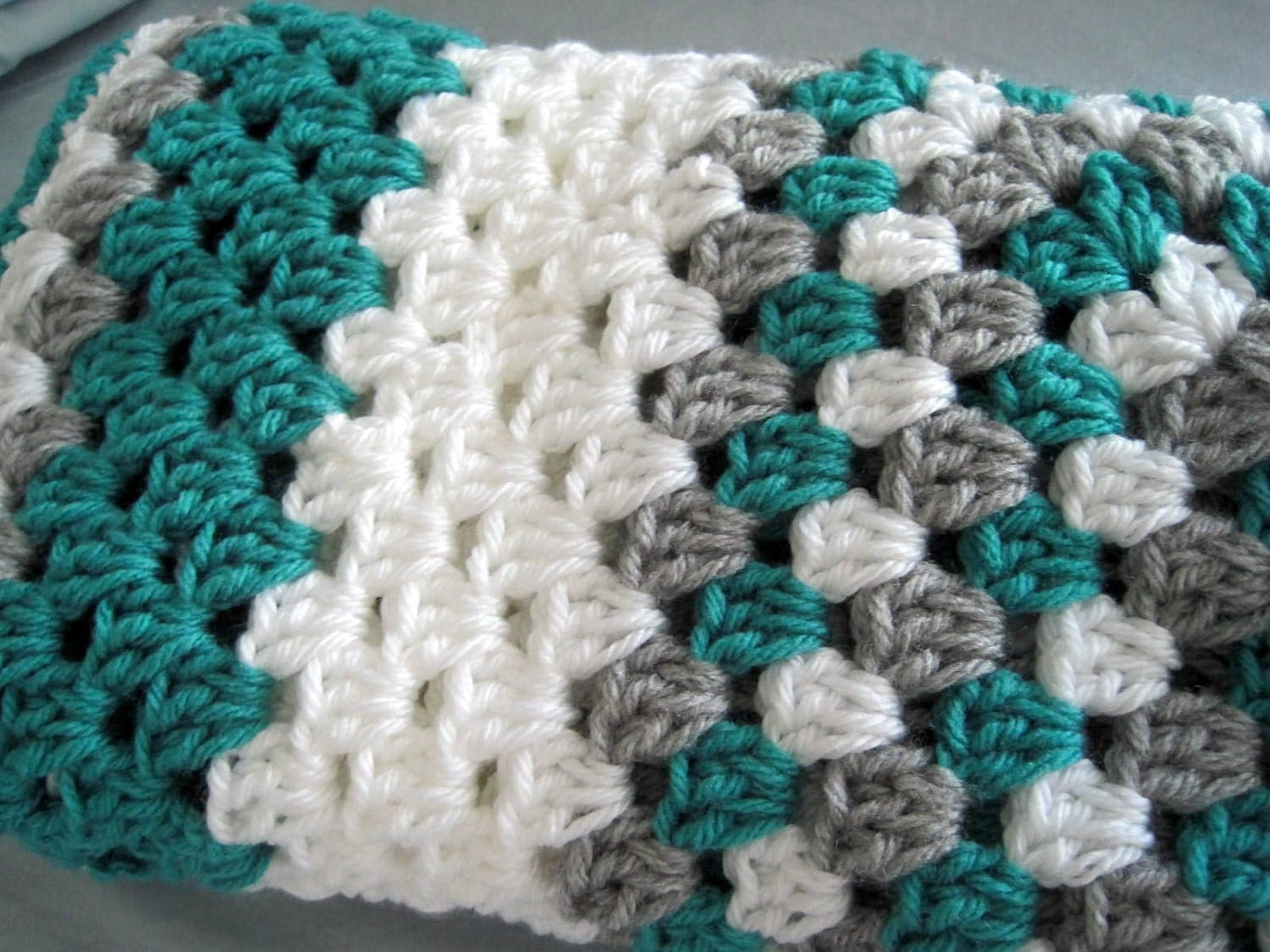 Crochet Patterns Granny Square Baby Blankets : Crochet baby blanket afghan granny square boys by ArrayOfCrochet