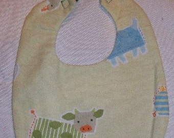 Farm Animal Baby Bib