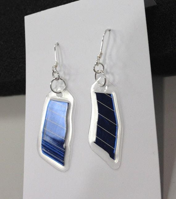 Solar Panel Dangle Earrings - Small