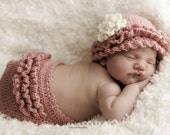 Layers of Ruffles Crochet Hat and Diaper Cover Pattern -- Photography Prop (505)