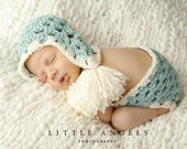 Clusters Crochet Hat and Diaper Cover Pattern -- Photography Prop (515)