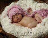 Pink Pixie Stocking Cap Crochet Hat Pattern (453)