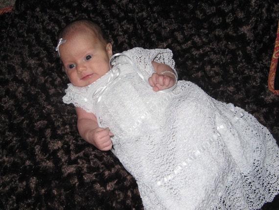 Christening Gown Crochet Pattern -- PDF 951: Elizabeth's Blessing/Christening Dress Thread Crochet Pattern