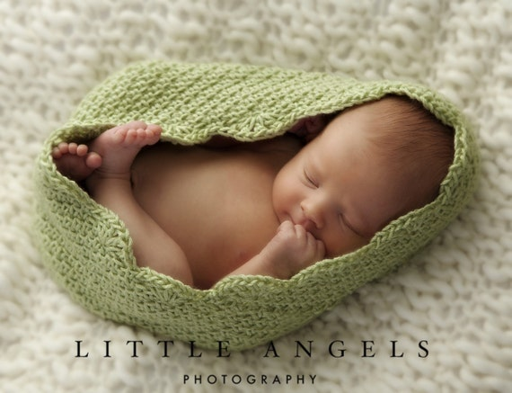 Herringbone Newborn Bowl Photography Prop Crochet Pattern (523)