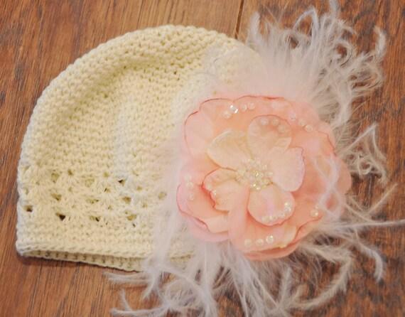 Stripe of Shells Thread Crochet Hat Crochet Pattern (466)