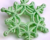 Edible Snowflake Ornament Pastel Green Let it Go Unique Hand Made To Order Christmas Winter Weddings Fun Cake Topper Gifts Parties Novelty
