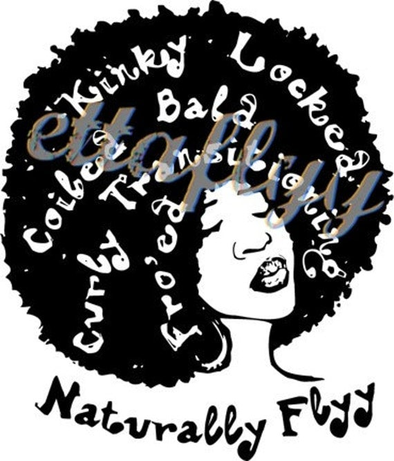 NEW Naturally FLYY Afro Lady Tee