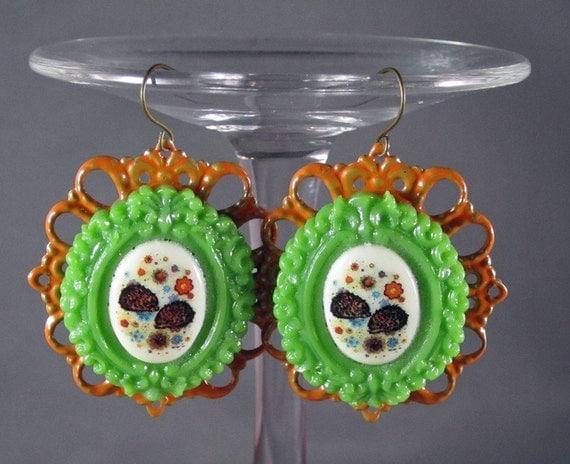 Kitschy and Fun Vintage Hedgehog Dangle Earrings