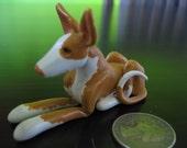 CUSTOM miniature Ibizan or Pharaoh Hound from photo
